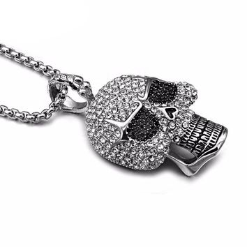 Iced Out Skull Necklace