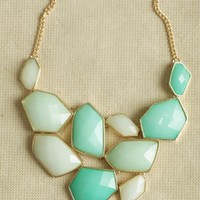 mint escapade jeweled necklace at ShopRuche.com