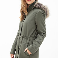 FOREVER 21 Faux Fur Utility Jacket