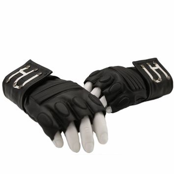 Ghostbusters Gloves Movie Costume Cosplay Props Accessories PU Black XCOSER Custom Made for Halloween Parties Adult