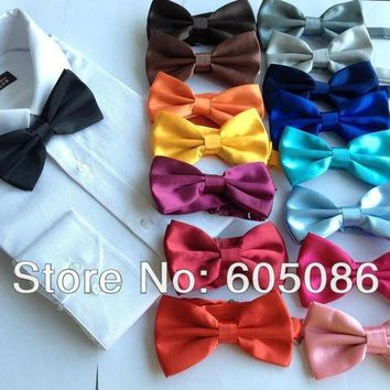 ac NOOW2 Solid copy silk Men's Bow Tie for man bowtie necktie