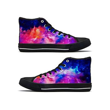 Dream Waves - High Top Canvas Shoes