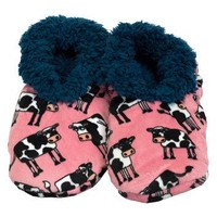 Mooody Cow Fuzzy Feet Womens Slippers
