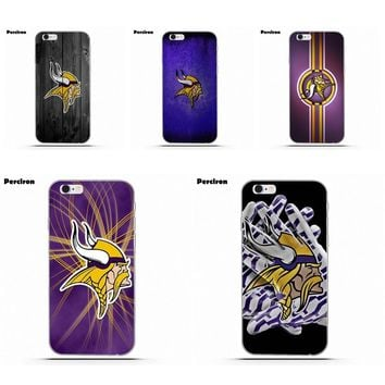 For iPhone X 4 4S 5 5C SE 6 6S 7 8 Plus Galaxy S5 S6 S7 S8 Grand Core II Prime Alpha Soft Cases Capa Plastic Minnesota Vikings