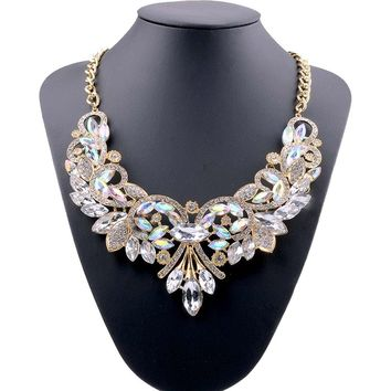 Lovage Women Crystal Collar Choker Necklace Handmade Statment Costume Jewelry For Party Use