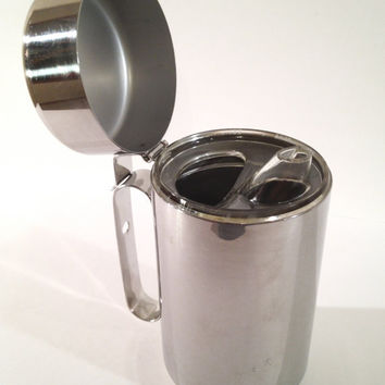 Vintage Silver Syrup Dispenser by ModernFiction on Etsy