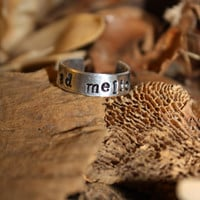 Stamped Aluminum Ring ad meliora by GoodGollieMissMollie on Etsy
