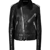 Anthony Vaccarello - Shearling Biker Jacket