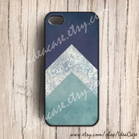 iPhone 5 - glitter geometric iphone case with triangle , iphone 4s case , plastic iphone case , iphone cover