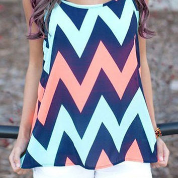 Strappy Striped Tank Top