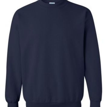 Navy Blue Crewneck Sweatshirt | Fashion Ql