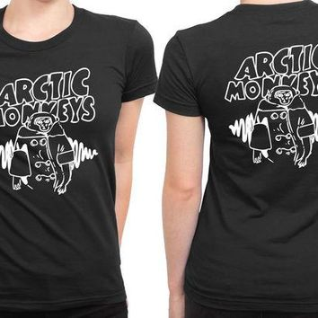DCCKL83 Arctic Monkeys Logo 2 Sided Womens T Shirt