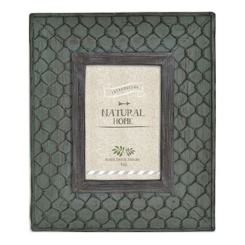 Natural Home Faux Chicken Wire 4'' x 6'' Frame (Green)