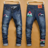 Winter Stylish Fashion Men Pants Men's Fashion Korean Jeans [6528600643]