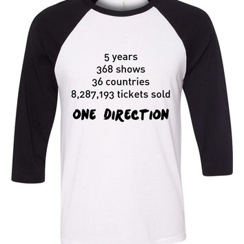 "One Direction ""Stats"" Baseball Tee"