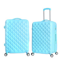 Unisex Suitcases on Wheels Aanti-tear ABS Plastic Travel Rolling Luggage Aluminum Alloy Pull Rod 360 Degree Rotating Trolley