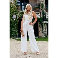 Melany Tie Jumpsuit (White)