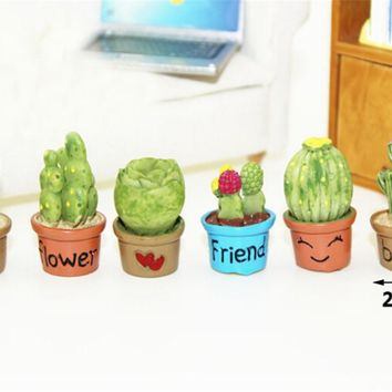 Cactus plants beach garden decor craft fairy house miniatures ornaments dollhouse DIY moss micro landscaping ornaments