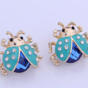 VONE056 Boutique ladybug earrings