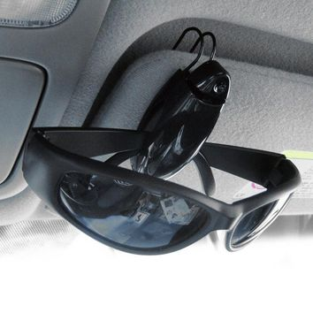 Newest Eye Glasses Card Pen Holder Clip Car Vehicle Accessory Sun Visor Sunglasses Holder