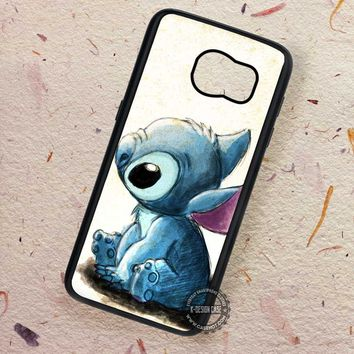 Art Drawing Cute Animal Lilo and Stitch - Samsung Galaxy S7 S6 S5 Note 7 Cases & Covers