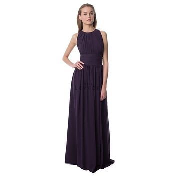 Bill Levkoff 974 Chiffon Sleeveless Floor Length Bridesmaid Dress