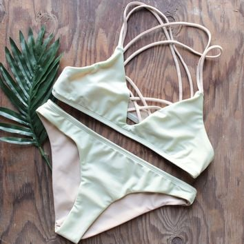 mint to the party strappy bikini