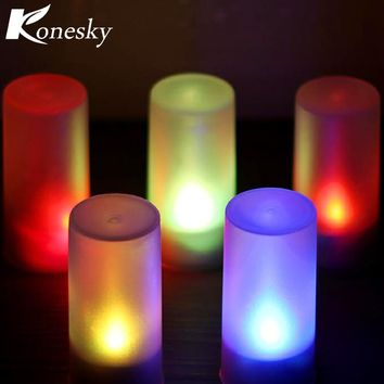 Wireless Remote Control Candle LED Light with Electronic Flash Multi Colors