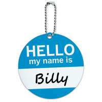 Billy Hello My Name Is Round ID Card Luggage Tag