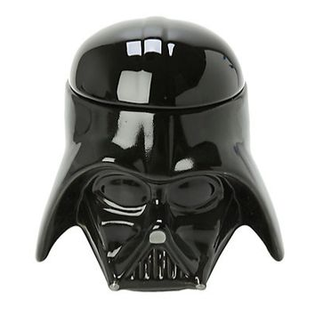 300 ml Star Wars Darth Vader Helmet 3D Coffee Mug Ceramic Cup with Lid Stormtrooper Milk Coffee Cup Birthday Gift RY1507
