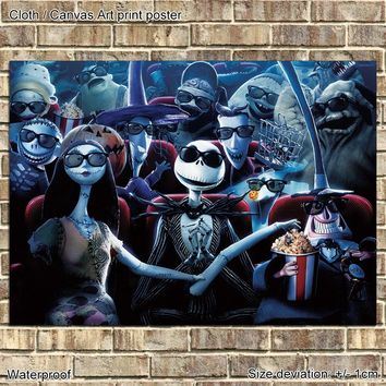Nightmare Before Christmas Cloth Art Poster (Size: 35cm by 48cm)