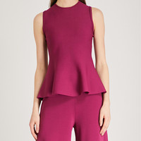 THEORY Flared-hem stretch-crepe top