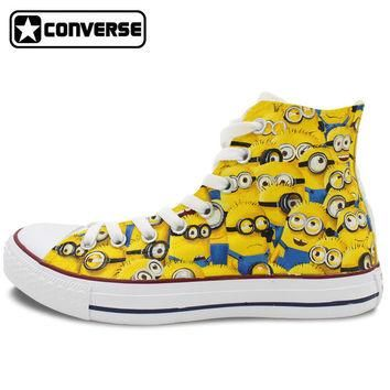 Canvas Sneakers Men Women Converse All Star High Top Hand Painted Shoes Minions Despic