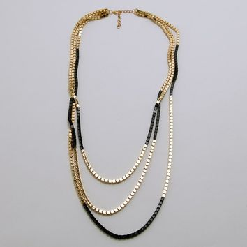 Multitasking Necklace - Black/Gold