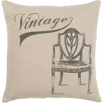 """ Vintage ""  Chair Throw Pillow - Candice Olson Design"