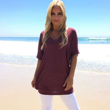 Take My Breath Away Tunic In Merlot