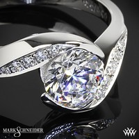 18k White Gold Mark Schneider Whirlwind Diamond Engagement Ring