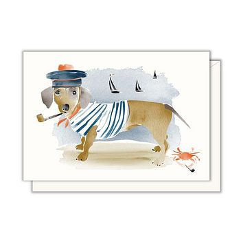 Dachshund Sailor Enclosure Card