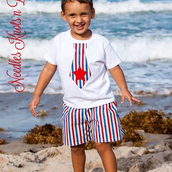 Boys 4th of July Outfit, Patriotic Outfit, Memorial Day, Veterans Day, Baby Boys 4th of July Coming Home Outfit