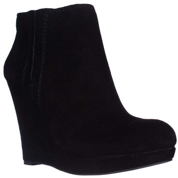 Jessica Simpson Calwell Platform Wedge Booties - Black
