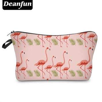 Deanfun Cute Cosmetic Bags Flamingo Pattern Necessaries for Travelling Organizer Makeup 51054