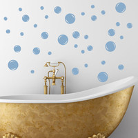 12 Bath Bubbles Vinyl Wall Decal by SpiffyDecals on Etsy