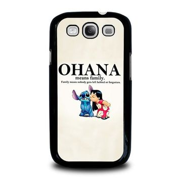 lilo and stitch ohana family disney samsung galaxy s3 case cover  number 1