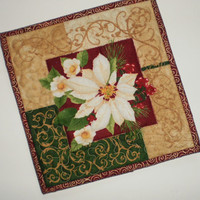 Holiday Candle Mat, Holiday Gift Basket or Hostess Gift