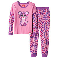 Girls 4-10 TY Beanie Boo's Glamour Thermal Mock-Layered Pajama Set