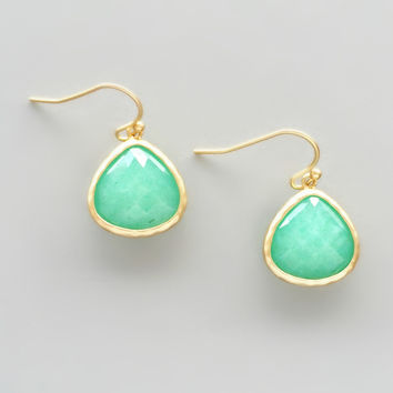 Mint Quartz Earrings - Handcrafted in NYC