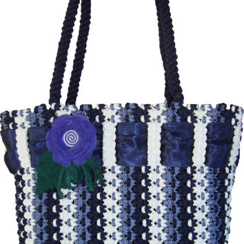 Handbag,macrame, handmade fashion bag