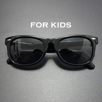 Hikulity Eyewears Vintage Polarized Children Sunglasses Shades UV Flexible Silicone Polaroid Kids Funny Baby Infant Sun Glasses