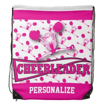 Cheerleader Personalize Backpacks -Pink