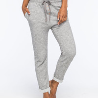 Roxy 6 O' Clock Womens Sweatpants Heather Grey  In Sizes
